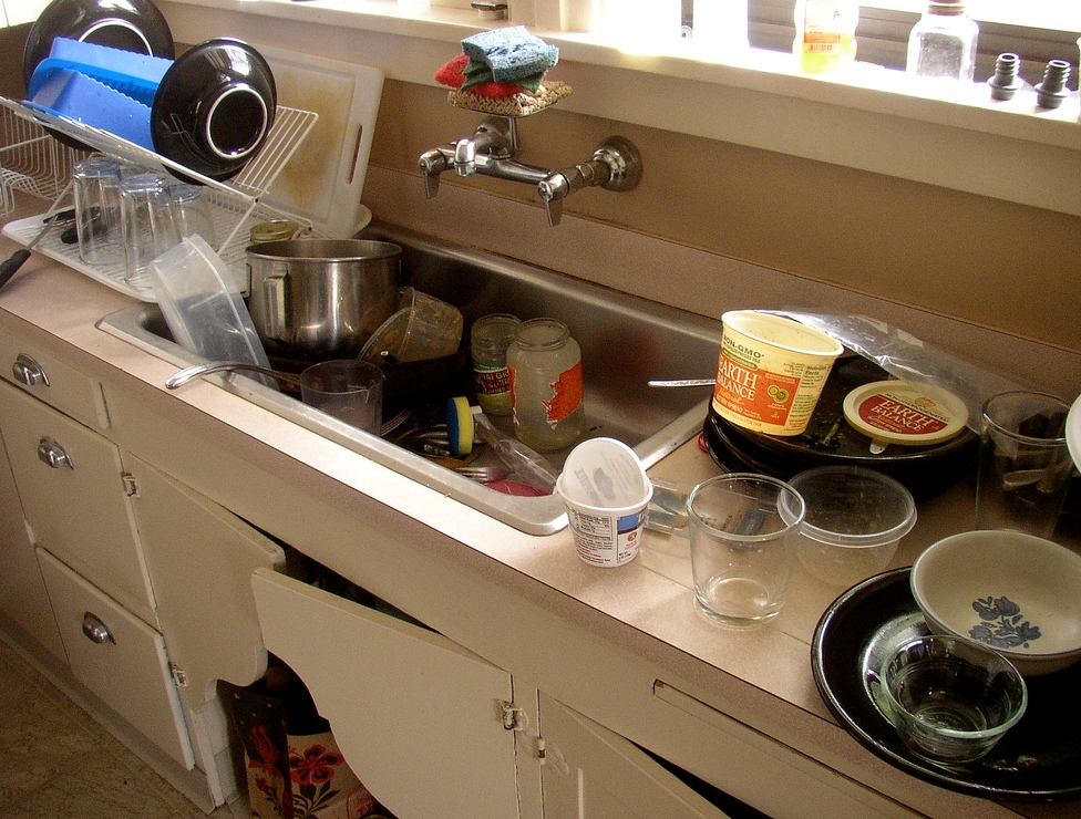 Simple things that you can use to fix a clogged kitchen sink
